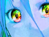 Anime Girl Eyes Blue