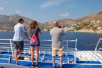 Ferry to Tilos, Greece