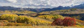 Rocky Mountain Valley Of Color Panoramic View