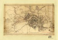 Civil War Map of the Siege of Atlanta, July 19th 1