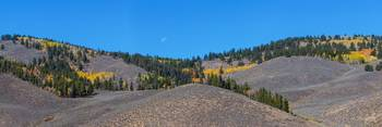 Autumn Moon Setting Panoramic View