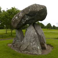 Proleek Dolmen IV - northeast view Art Prints & Posters by Michael Stephen Wills