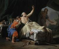 Isaac Blessing Jacob , Nicolas-Guy Brenet (France,