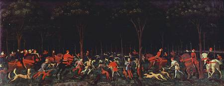 hunting party, Paolo Uccello