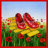 Ruby Slippers Yellow Brick Road Red Poppies