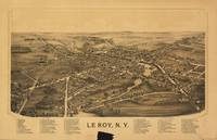 Aerial View of Le Roy, New York (1892)