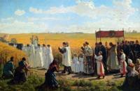 Jules Breton , The Blessing of the Wheat 2