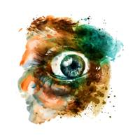 Fear Eye Watercolor