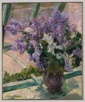 Lilacs in a Window (Vase de Lilas a la Fenetre) ,