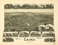 Aerial View of Cairo, West Virginia (1899)