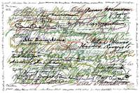 All The Presidents Signatures Green Sepia