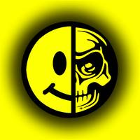 Smiley Face Skull Yellow Shadow