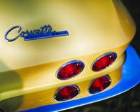 Rear End of a Classic Chevrolete Corvette Stingt R