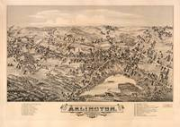 Aerial View of Arlington, Massachusetts (1884)