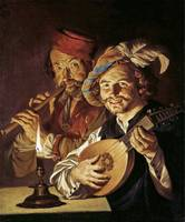 Matthias Stomer - Lute Player and flutist