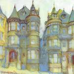 Spicy Victorian Row Houses San Francisco  by RD Riccoboni