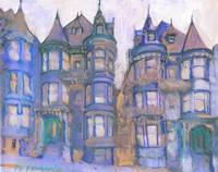 San Francisco California Blue Victorian