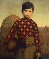 Plaid Sweater by Grant Wood