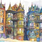 San Francisco California Victorian Mansions by RD Riccoboni