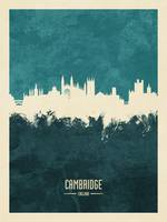 Cambridge England Skyline