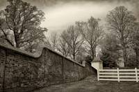 Mt Vernon Garden Wall Black and White