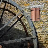 Rocky Run Grist Mill Wheel by Karen Adams