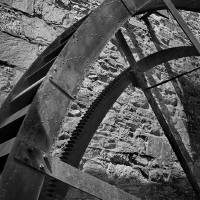 Wheel Black and White by Karen Adams