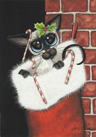 Stocking Stuffer Siamese Cat