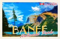 Banff National Park, Canada Travel Poster