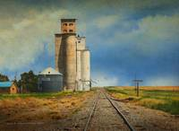 cool grain elevator out in kansas
