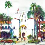 SDSU Campanile Tower Hepner Hall  by RD Riccoboni