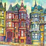 """San Francisco Bright Victorian Row Houses"" by RDRiccoboni"