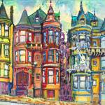 """San Francisco Bright Victorian Row Houses"" by RDRiccoboni"