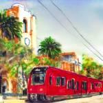 Mission Valley Trolley Station San Diego  by RD Riccoboni