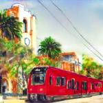 Mission Valley Trolley Station San Diego  by RD Riccoboni