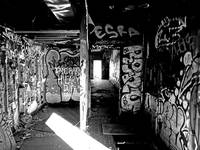 Black and White Pitroom Graffiti