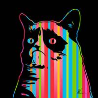 Grumpy Cat | Dark | Pop Art