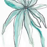 Ocean Blue Botanical Art Prints & Posters by Jan Weiss