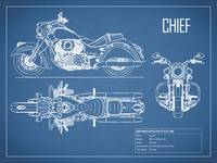 The Chief Motorcycle Blueprint