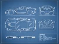 Corvette C7 Blueprint
