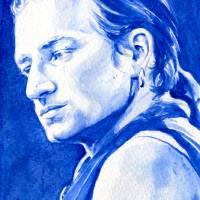 True Blue Bono Art Prints & Posters by Kelly Eddington