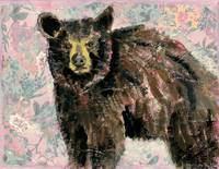 black bear painting | wildlife art | mama bear