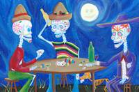 Calacas Playing Poker