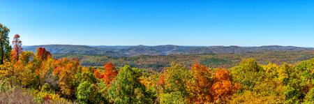 Ozarks in Fall Panorama