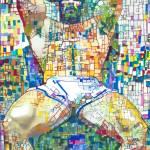 Beartropolis Geometric abstract of sexy man by RD Riccoboni