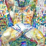 Beartropolis Geometric abstract of sexy man by RD Riccoboni