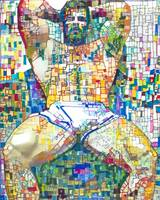 Beartropolis Geometric abstract of sexy man