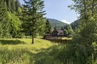 Romania Carpathian mountain chalet fairytale