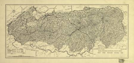 Map of the Great Smoky Mountains National Park (19