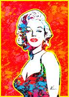 Marilyn Monroe | Splatter Series | Pop Art